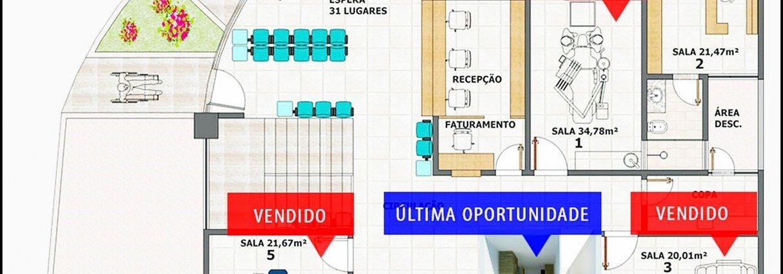 Sala Comercial - Exame/Coleta - EXCELENTE OPÇÃO PARA SEU NEGÓCIO OU RENDA DE ALUGUEL - Negociação direta com Proprietário!  Ligue já!